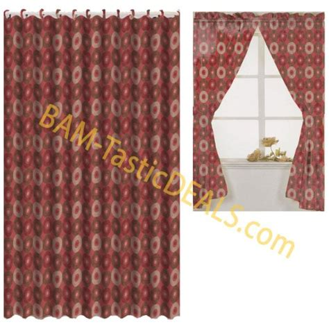 matching window and shower curtain sets buy matching bath set burgundy circles window curtain