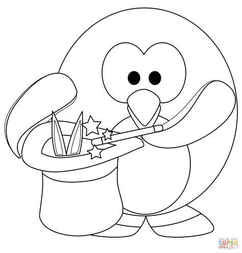 Coloriage   Pingouin magique   Coloriages à imprimer gratuits