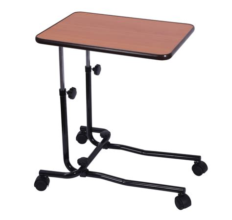 The Bed Table With Wheels by Bed Chair Table