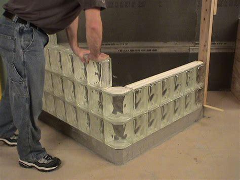 glass block shower wall installation methods mortar
