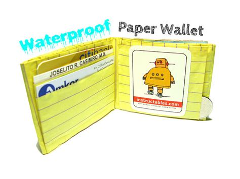 How To Make A Paper Wallet With Pockets - waterproof paper wallet