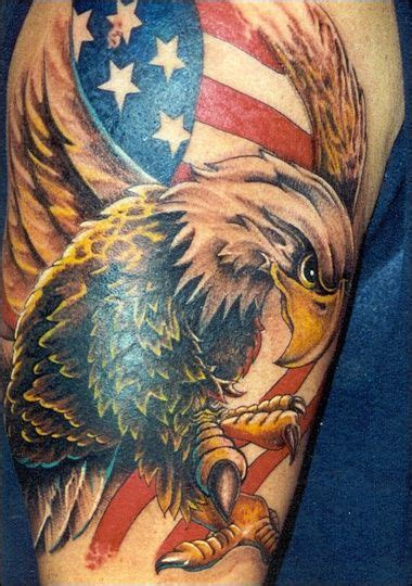 eagle with american flag tattoo designs american flag with the bald eagle on it us