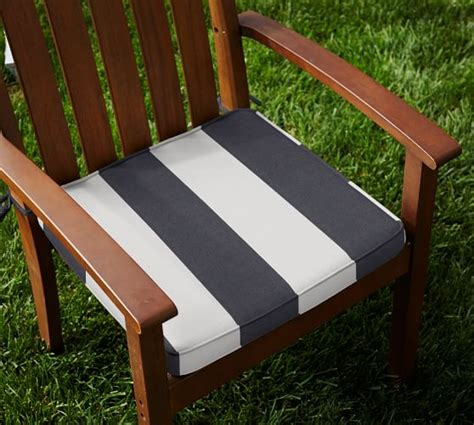Pottery Barn Chair Cushions by Outdoor Piped Dining Chair Cushion Striped Sunbrella