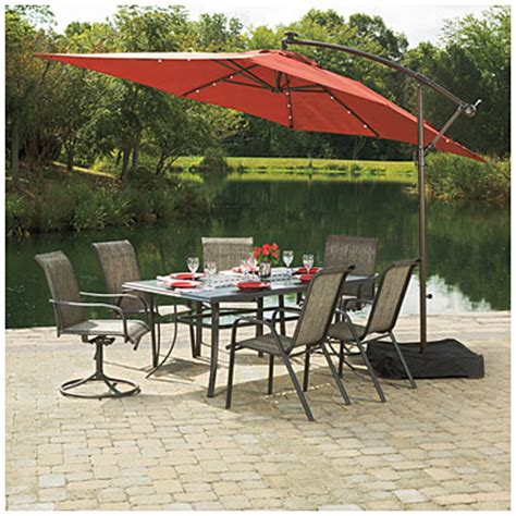 rectangular offset patio umbrella view wilson fisher 174 solar offset 11 rectangular