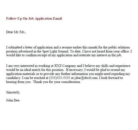 sle follow up email after submitting resume writing a follow up email after sending resume
