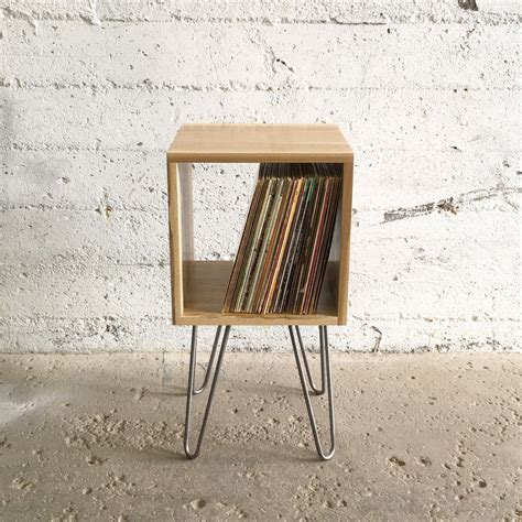 Vinyl Shelf by Grogg Vinyl Unit Hairpin Legs Record Player Stand