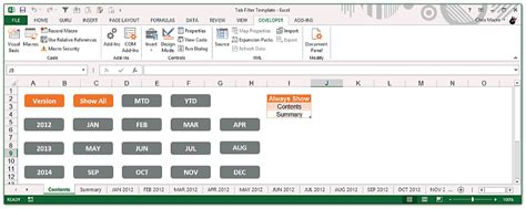 the tab filter template the spreadsheet guru