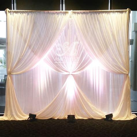 multi layered chiffon wedding backdrop with 2 layer