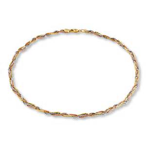 tri color gold necklace jared braided chain necklace 14k tri color gold 18 inch
