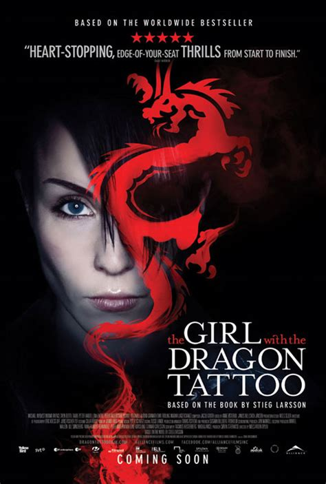 new girl with the dragon tattoo book with the book new tattoos