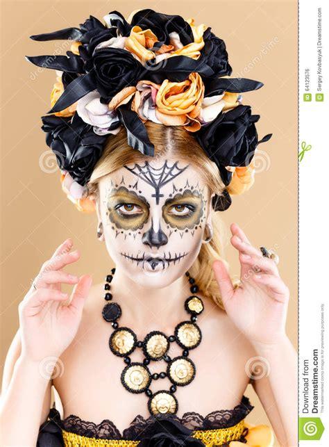 skulls that belinda peregrin wears in hair the gallery for gt dia de los muertos hair flowers