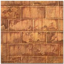 rust colored stains on cinder block basement walls burnt orange rust