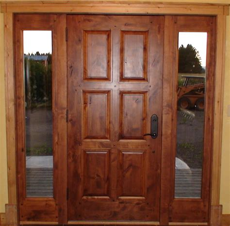 Exterior Hardwood Door Refinish Exterior Best Solid Wood Door And Window With Narrow Glass Panels Ideas