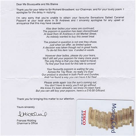 Complaint Letter For Poor Housekeeping The Best Tesco Complaint Letter News And Events Housekeeping