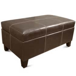 Rectangular Storage Ottoman Rectangle Storage Ottoman Brown Furniture Walmart