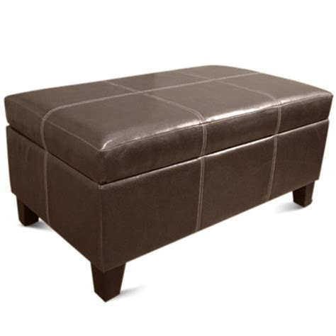 Brown Storage Ottoman Rectangle Storage Ottoman Brown Furniture Walmart
