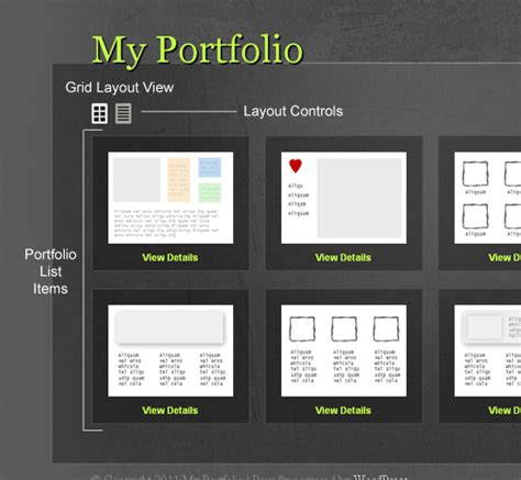 layout site portfolio create a multi layout portfolio with wordpress medianic