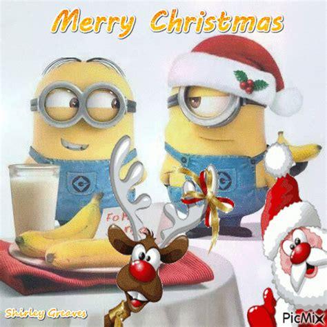 minions merry christmas picmix