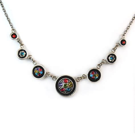 multi color circle necklace 8570 firefly jewelry
