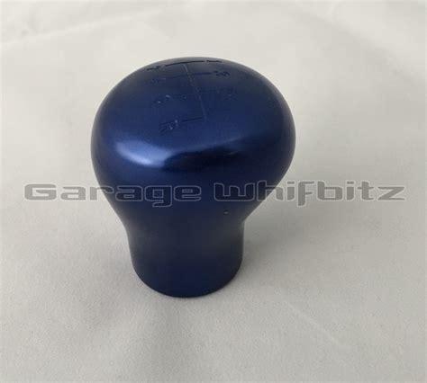 Aluminium Gear Knob by Garage Whifbitz 6 Speed Billet Aluminium Supra Blue Gear