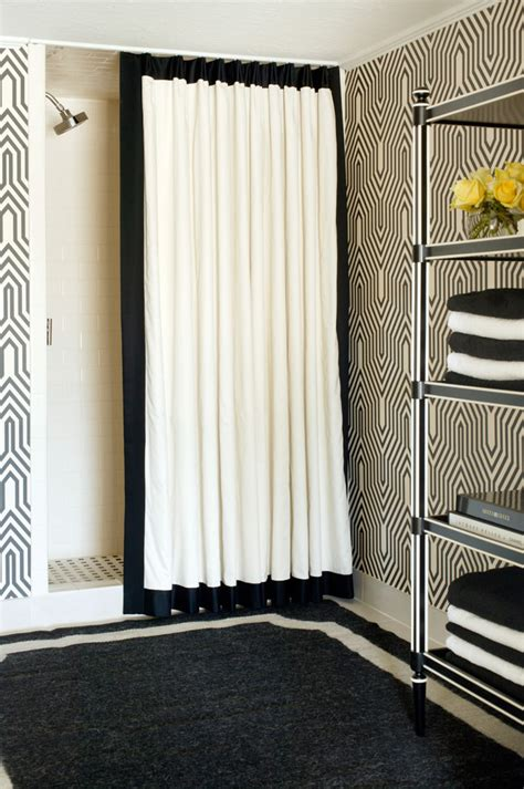 Black and white black and white shower curtains black image by tobi