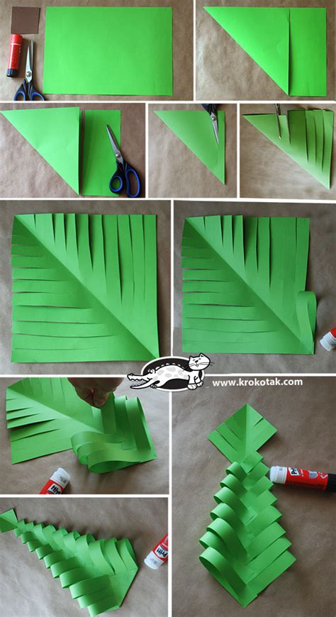 xmas tree activity out of construction paper krokotak diy paper trees