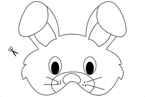 printable rabbit mask template mask template printable printable template 2017