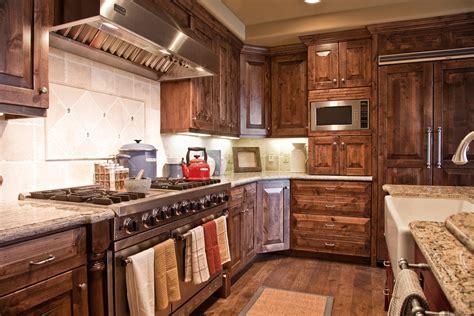 alder wood cabinets alder wood cabinets kitchen rustic with breakfast bar