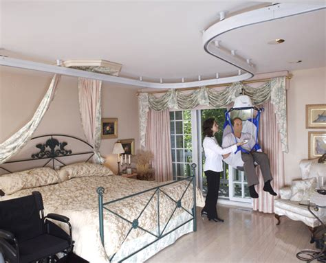 ceiling lifts for disabled ceiling lifts that make in home tranfers easier and safer