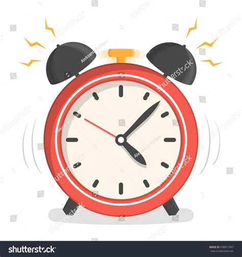 Alarm Vector alarm clock flat design vector stock vector 598917047