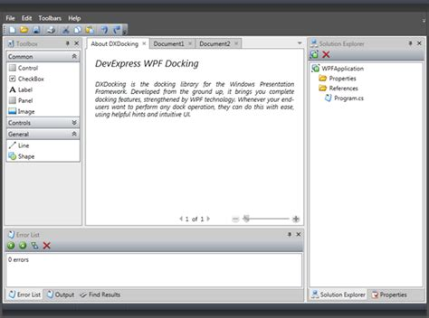 dock manager wpf layout control devexpress wpf docking control multiple document interface mdi