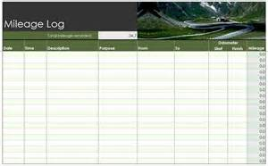 mileage log template free mileage log template