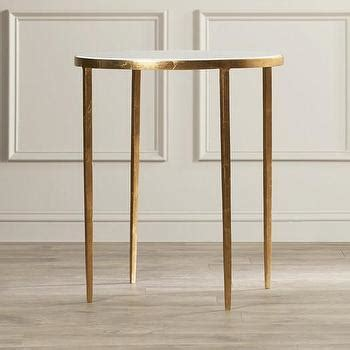 white granite end table skyline end table with white top and gold metal base