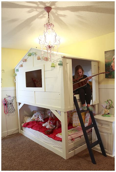playhouse bed girls bedroom diy ikea makeover sweet