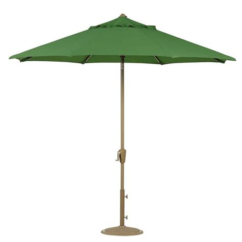 6 Ft Patio Umbrella Home Decorators Collection 6 Ft Auto Tilt Patio Umbrella In Emerald Sunbrella With Chagne
