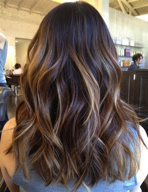 hairstyles highlights photos a fabulous long black and brown hairstyle ideas with