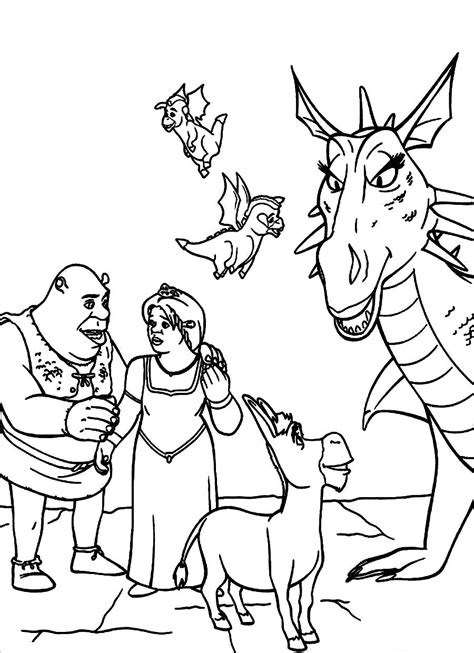 free coloring pages of donkey from shrek