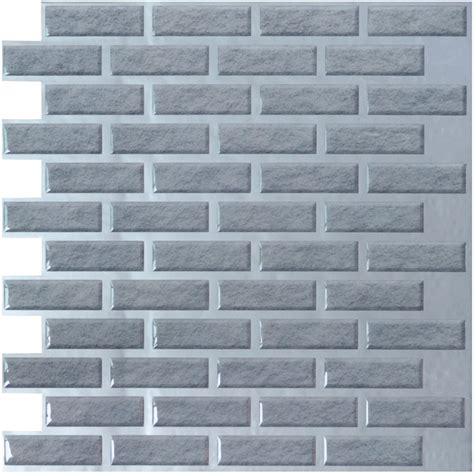 brick vinyl wall tiles 11 2x12in peel n stick backsplash