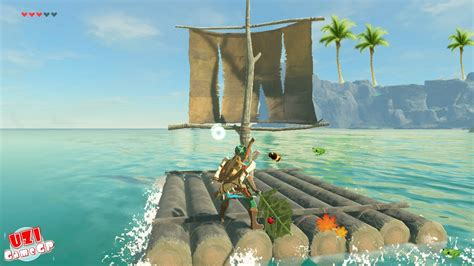 sail boat zelda zelda breath of the wild how to use the raft boat float