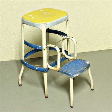 Retro Stool With Steps by Vintage Stool Step Stool Kitchen Stool Cosco Chair