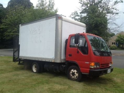find used isuzu diesel npr 12ft box truck automatic a c