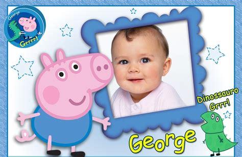 george cornici fotomontajes de peppa pig fotomontajes infantiles