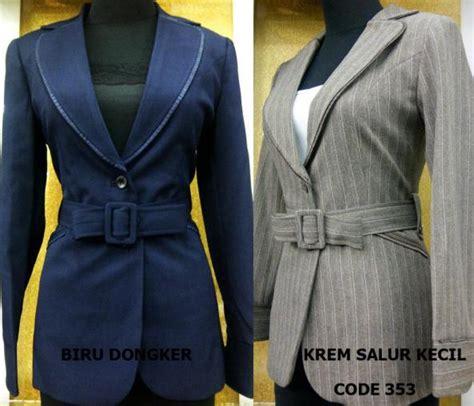 Blazer Kantor Muslim Abu Abu blazer kerja wanita baju kerja wanita