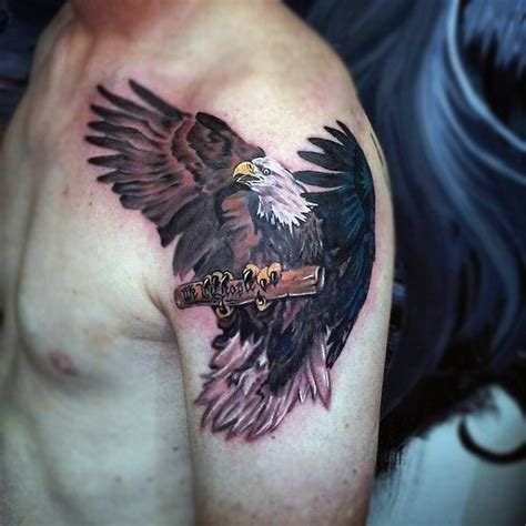 eagle tattoo for men 90 bald eagle designs for ideas that soar high