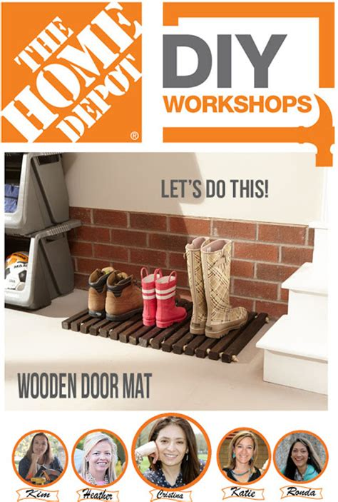 diy home depot make this fun diy wooden doormat by creatively living blog