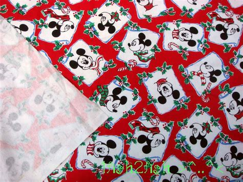 Vintage Disney Knit Fabric Mickey Mouse By
