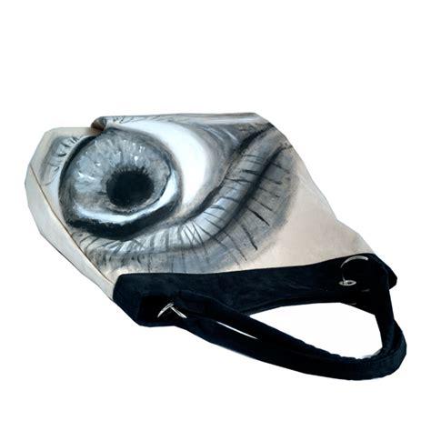 Oko Metallic torebka alkantara malowanie oko metal unikat na rami苹 torebki w arsneo