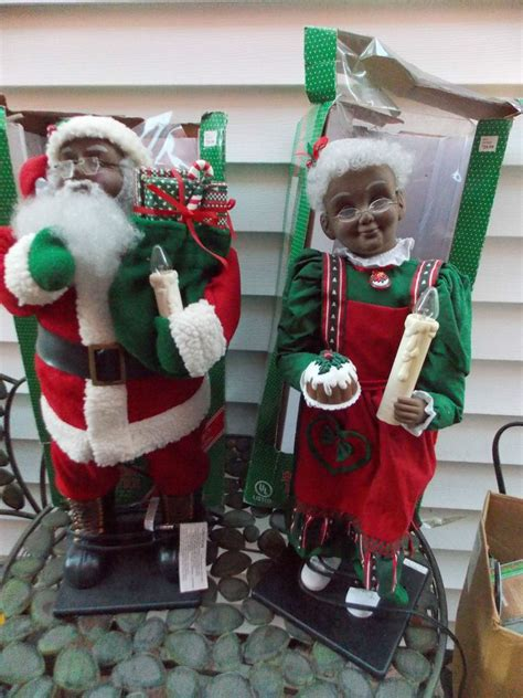 holiday creations santa doll for sale creations motion animated santa mrs claus black american vintage