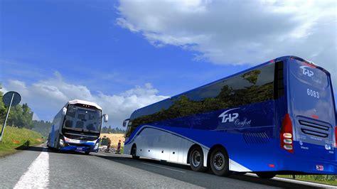 bus volvo  premium  bus mod euro truck simulator  mods
