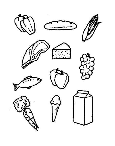 coloring pages food groups free printable food coloring pages for kids